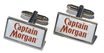 Boxed Set Rectangle Silver Cufflinks